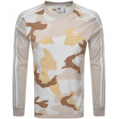 adidas Originals Long Sleeved T Shirt Beige