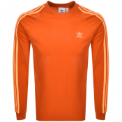 adidas Originals Long Sleeved T Shirt Orange