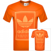 adidas Originals Vintage Logo T Shirt Orange