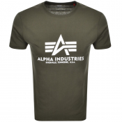 Alpha Industries Basic Logo T Shirt Green