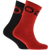 HUGO Logo Sport Socks Double Pack Red