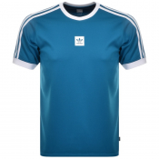 Adidas Originals Club Jersey T Shirt Blue