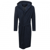 Product Image for BOSS HUGO BOSS Logo Bath Robe Navy