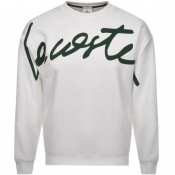 Product Image for Lacoste Live Crew Neck Sweatshirt White