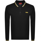 Product Image for HUGO Donol194 Long Sleeved Polo T Shirt Black