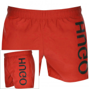 HUGO Saba Swim Shorts Red