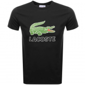 Product Image for Lacoste Crew Neck Logo T Shirt Black