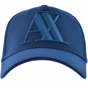 Product Image for Armani Exchange Logo Cap Blue