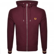 Fred Perry Full Zip Hoodie Burgundy