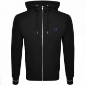 Fred Perry Full Zip Hoodie Black