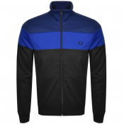 Product Image for Fred Perry Colour Block Track Zip Sweatshirt Blue