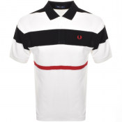 Fred Perry Bold Stripe Polo T Shirt White
