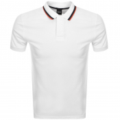 Product Image for BOSS Athleisure Short Sleeved Polo T Shirt White