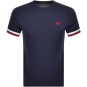 Product Image for Fred Perry Bold Tipped T Shirt Navy