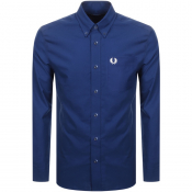 Fred Perry Long Sleeved Oxford Shirt Blue