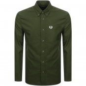 Product Image for Fred Perry Long Sleeved Oxford Shirt Green