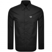 Fred Perry Long Sleeved Button Down Shirt Black