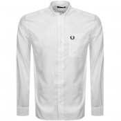 Product Image for Fred Perry Long Sleeved Grandad Collar Shirt White