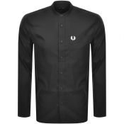 Product Image for Fred Perry Long Sleeved Grandad Collar Shirt Black