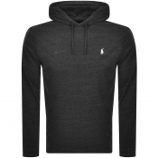 Ralph Lauren Long Sleeved Hooded T Shirt Black