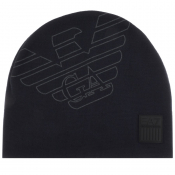 Product Image for EA7 Emporio Armani Eagle Beanie Hat Navy