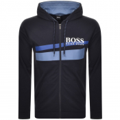 BOSS HUGO BOSS Full Zip Hoodie Navy