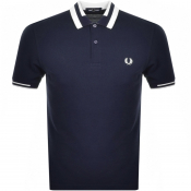Fred Perry Block Tipped Polo T Shirt Blue
