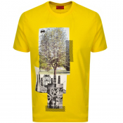 HUGO Dennai T Shirt Yellow