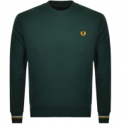Fred Perry Crew Neck Sweatshirt Green