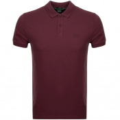 BOSS Athleisure Piro Polo T Shirt Burgundy