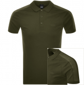 BOSS Athleisure Short Sleeved Polo T Shirt Green