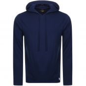 Ralph Lauren Long Sleeved Hooded T Shirt Navy