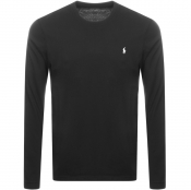 Ralph Lauren Long Sleeved Crew Neck T Shirt Black