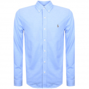 Ralph Lauren Oxford Knit Pique Shirt Blue