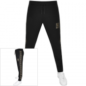 Emporio Armani Blue Logo Jogging Bottoms Black