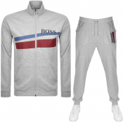 BOSS HUGO BOSS Full Zip Sweatshirt Tracksuit Grey