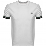 Fred Perry Bold Tipped T Shirt White