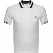 Product Image for Fred Perry Block Tipped Polo T Shirt White