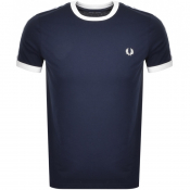 Product Image for Fred Perry Taped Ringer T Shirt Blue
