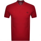 Fred Perry Bomber Collar Polo T Shirt Red