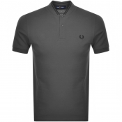 Fred Perry Bomber Collar Polo T Shirt Grey