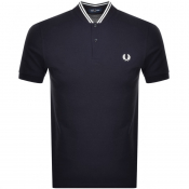 Fred Perry Bomber Collar Polo T Shirt Navy