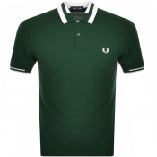 Fred Perry Block Tipped Polo T Shirt Green