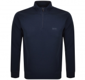BOSS Athleisure Half Zip Logo Sweatshirt Navy