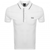 BOSS Athleisure Paule 4 Jersey Polo T Shirt White