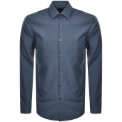 BOSS HUGO BOSS Slim Fit Isko Shirt Blue