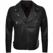 Product Image for BOSS HUGO BOSS Golen Leather Jacket Black