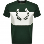 Fred Perry Printed Wreath Logo T Shirt Green