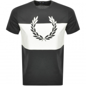 Fred Perry Printed Laurel Wreath Logo T Shirt Grey