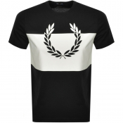 Fred Perry Printed Wreath Logo T Shirt Black